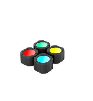 MT14 Filtros de cuatro colores + protector para linterna